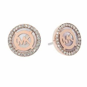 Michael Kors Rose Gold Earrings With Tag In Box